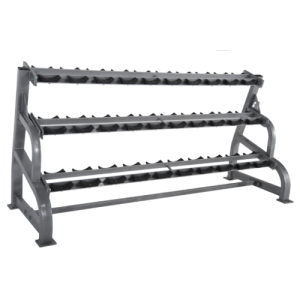 Pro Maxima-PLR-505 DUMBBELL RACK (3-TIER W/SADDLES)
