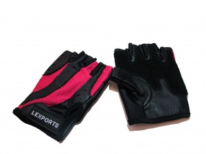 LEXPORTS-14014061- PRO WEIGHT TRAINING GLOVES FOR WOMEN RED SIZE MEDIUM (17CM TO  19CM)