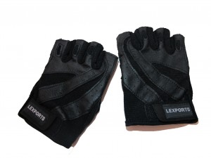 LEXPORTS-14014031 PRO WEIGHT TRAINING GLOVES FOR MEN BLACK SIZE LARGE(21CM TO 23CM)