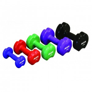 7KG APPLE SHAPE NEOPRENE DUMBBELL, GREY