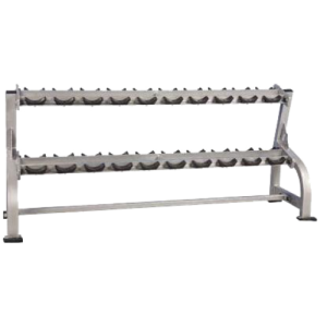 Pro Maxima-PLR-500 2 TIER DUMBBELL RACK W/SADDLES